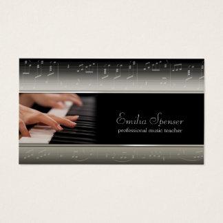 Tarjeta de profesor profesional de música del