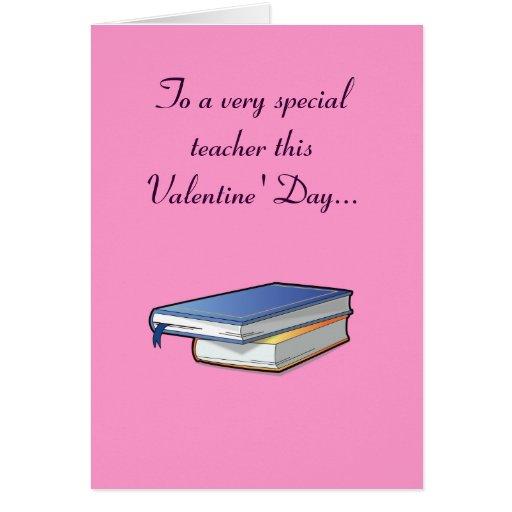 Tarjeta de profesores del el día de San Valentín c