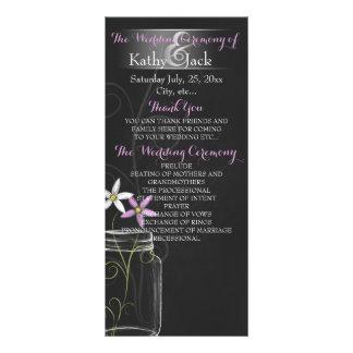 Tarjeta de programa del boda del tarro de la tarjeta publicitaria a todo color