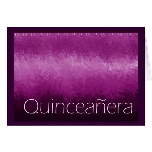 Tarjeta de Quinceanera