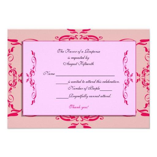Tarjeta de Quinceanera RSVP Invitación Personalizada
