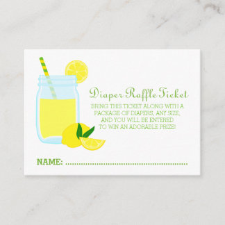 Lemonade Baby Shower Diaper Raffle Ticket