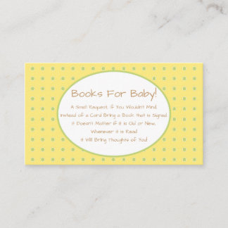 Yellow Bird Baby Shower Book Request Insert