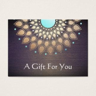 Tarjeta de regalo del terapeuta del masaje