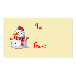 Tarjeta de regalo linda del muñeco de nieve del tarjeta personal