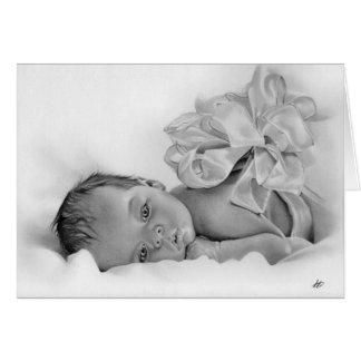 Tarjeta de regalo recién nacida del bebé