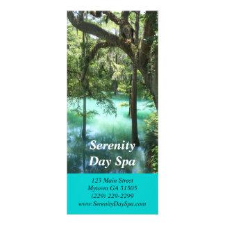 Tarjeta de relajación del estante de la imagen tarjeta publicitaria a todo color