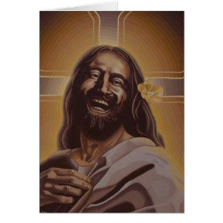 Tarjeta de risa de Jesús