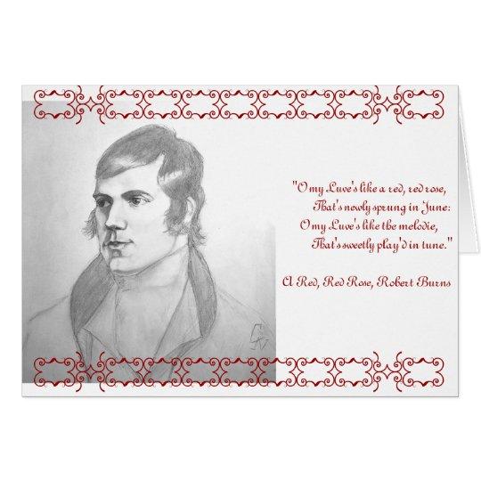 Tarjeta de Robert Burns