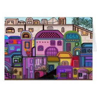 Tarjeta de Rosh Hashanah de la tapicería de