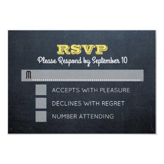 Tarjeta de RSVP de la confirmación del oro de la Invitación 8,9 X 12,7 Cm