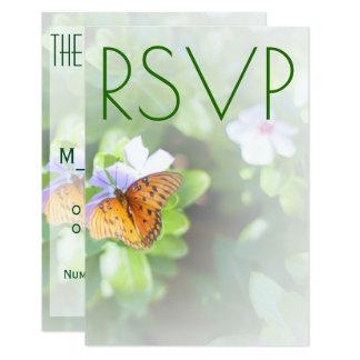 Tarjeta de RSVP de la mariposa