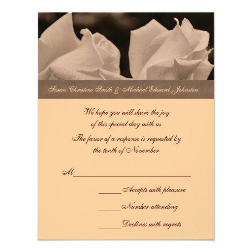 Tarjeta de RSVP de la respuesta del boda de los pa Comunicado Personal