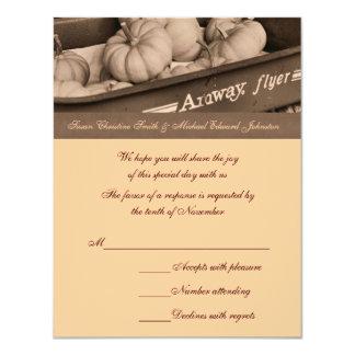 Tarjeta de RSVP de la respuesta del boda del carro Invitación 10,8 X 13,9 Cm