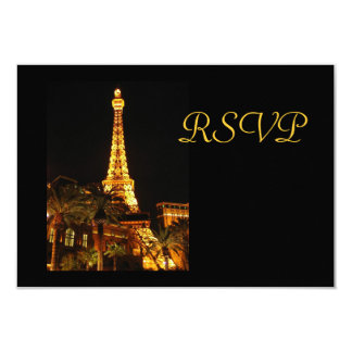Tarjeta de RSVP de la torre Eiffel de Las Vegas Invitación 8,9 X 12,7 Cm