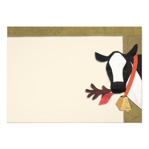 Tarjeta de RSVP de la vaca Anuncio Personalizado