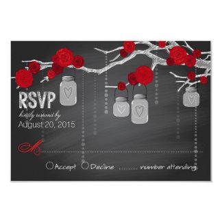 Tarjeta de RSVP de las ramas de los rosas de la Invitación 8,9 X 12,7 Cm