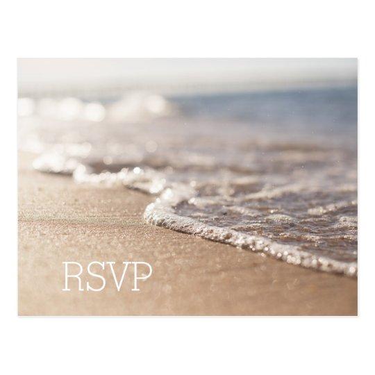 Tarjeta de RSVP del boda de playa