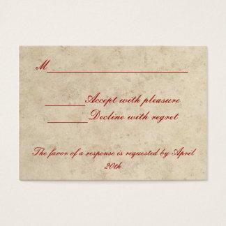Tarjeta de RSVP del boda - del amor amor siempre