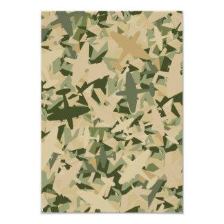 Tarjeta de RSVP del camuflaje de la fuerza aérea Invitación 8,9 X 12,7 Cm