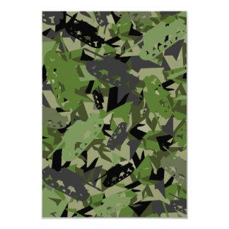 Tarjeta de RSVP del camuflaje del ejército del Invitación 8,9 X 12,7 Cm
