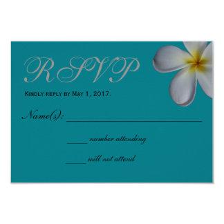 Tarjeta de RSVP del Plumeria Invitación 8,9 X 12,7 Cm