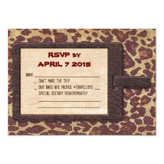 Tarjeta de RSVP del safari