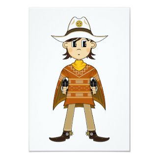 Tarjeta de RSVP del sheriff del vaquero Comunicados Personales