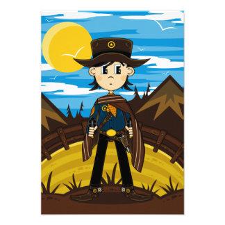 Tarjeta de RSVP del sheriff del vaquero Invitacion Personalizada