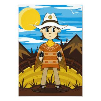 Tarjeta de RSVP del vaquero del poncho Invitacion Personalizada