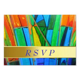 Tarjeta de RSVP--Naranja del vidrio de Murano Invitación 8,9 X 12,7 Cm