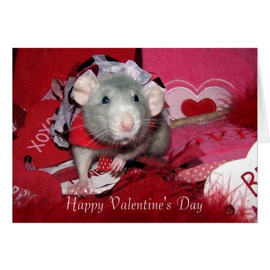 Tarjeta de rubíes del el día de San Valentín