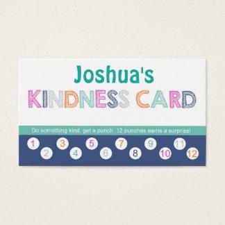 Tarjeta de sacador de la amabilidad de los niños