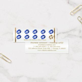 Tarjeta de sacador de la lealtad - brillo azul