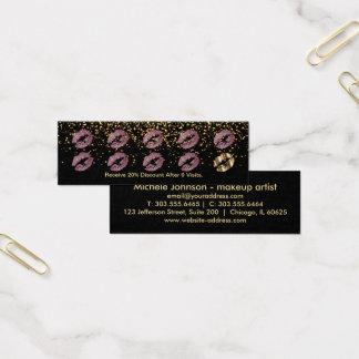 Tarjeta de sacador de la lealtad - brillo rosado y