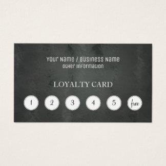 Tarjeta de sacador de la lealtad del cliente de la