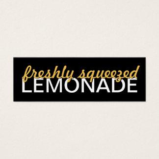 tarjeta de sacador de la limonada