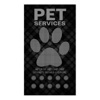 tarjeta de sacador de la pata del mascota de la te tarjeta de visita