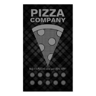 tarjeta de sacador de la pizza de la tela escocesa tarjeta de negocio