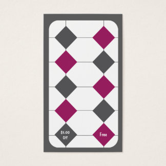 Tarjeta de sacador de la tarjeta de visita de la