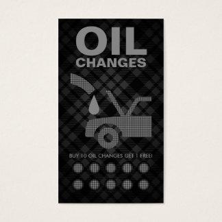 tarjeta de sacador de los cambios de aceite de la