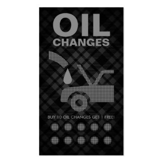 tarjeta de sacador de los cambios de aceite de la tarjetas de visita