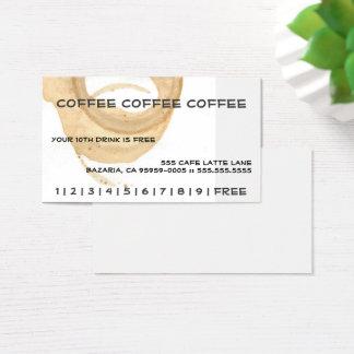 Tarjeta De Visita Tarjeta de sacador del café del café del café