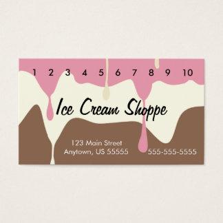 Tarjeta de sacador napolitana de fusión del helado