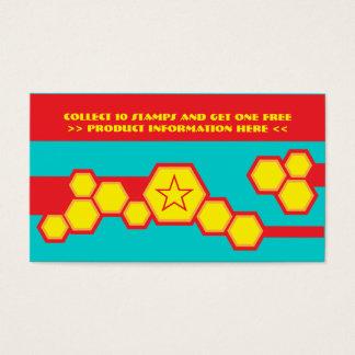 tarjeta de sacador retra del panal