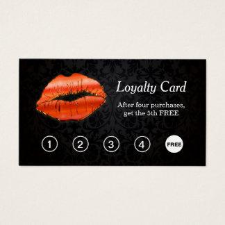 tarjeta de sacador roja de la lealtad del salón