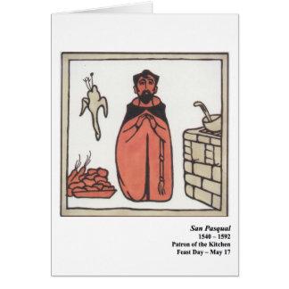 Tarjeta de San Pasqual Santo