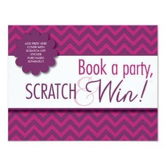 Tarjeta de Scratcher de la presentadora con el Invitación 10,8 X 13,9 Cm
