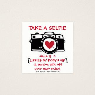 Tarjeta de Selfie del descuento - tarjeta de la