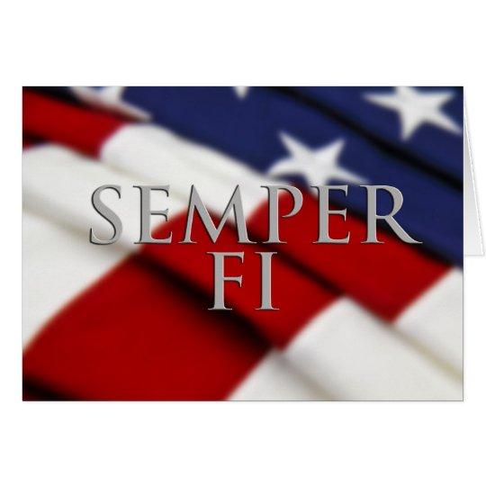 Tarjeta de Semper FI